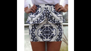 Started of my shopping trip with this damask print skirt as inspiration