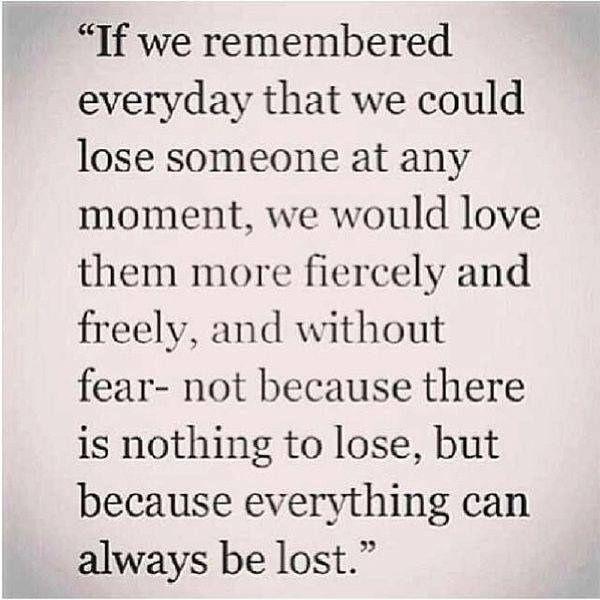 love fiercely...