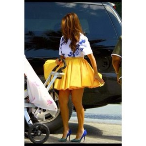 This is the skirt I saw and fell in love with the idea of yellow-SOLD